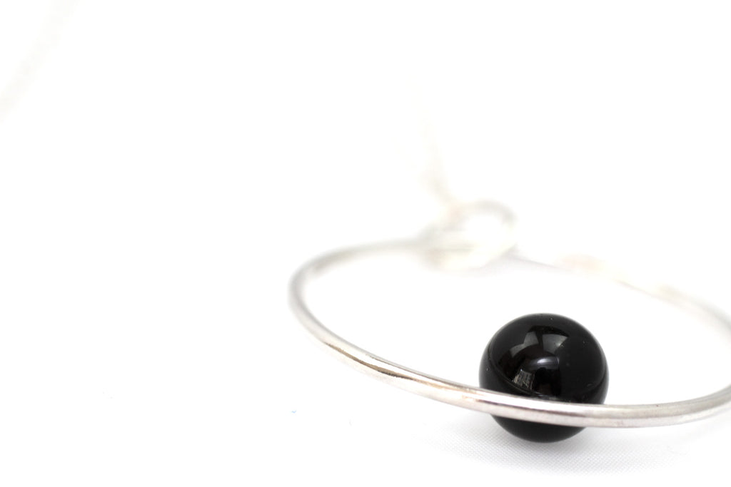 Positano necklace by M of Copenhagen made with recycled silver and onyx
