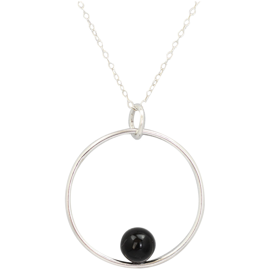 Positano necklace by M of Copenhagen made with silver and onyx