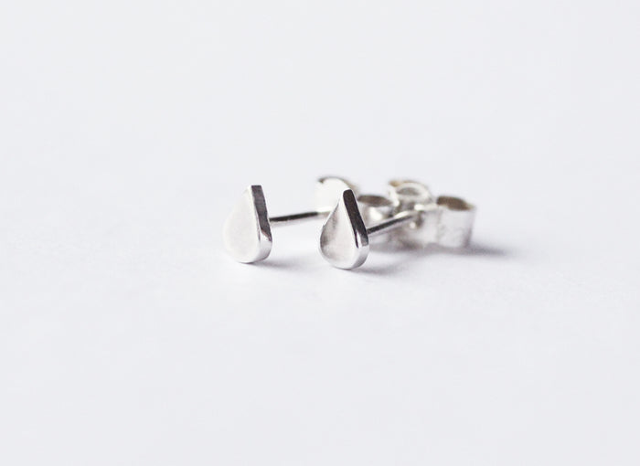 ef4baf9be Recycled silver earrings Laguna Mini by M of Copenhagen laying on white  background