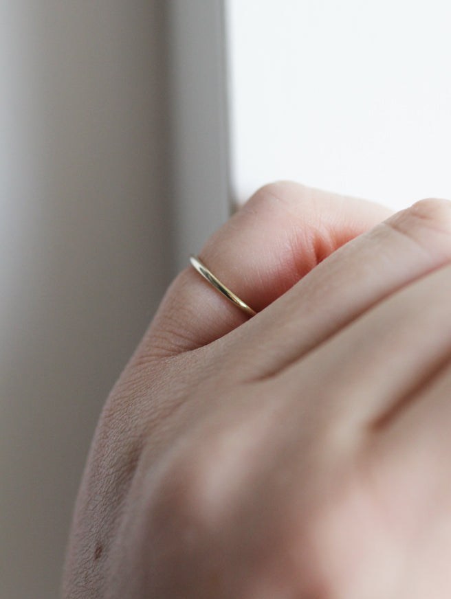 Stella Gold stacking ring by M of Copenhagen