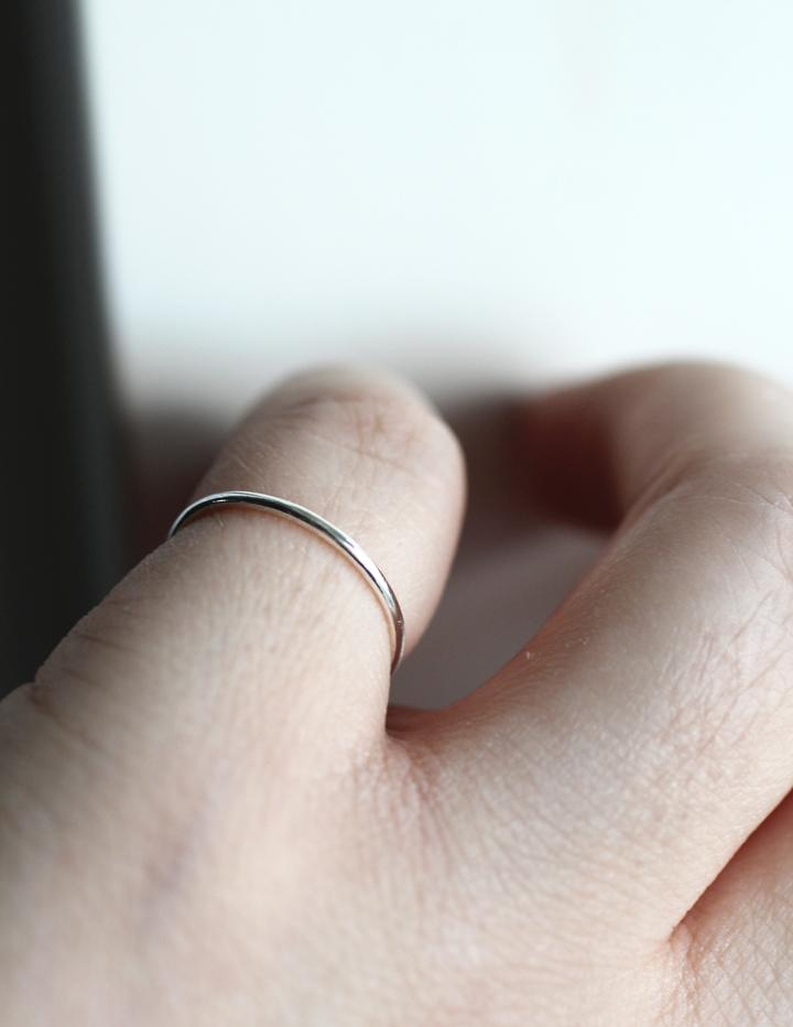 Stella stacking ring in reycled silver by m of copenhagen