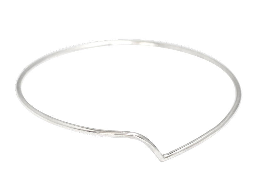 Thy bangle by M of Copenhagen made from Ecosilver recycled silver