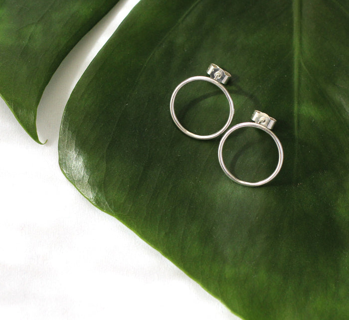 Tilda earrings by eco jeweller M of Copenhagen made from recycled silver