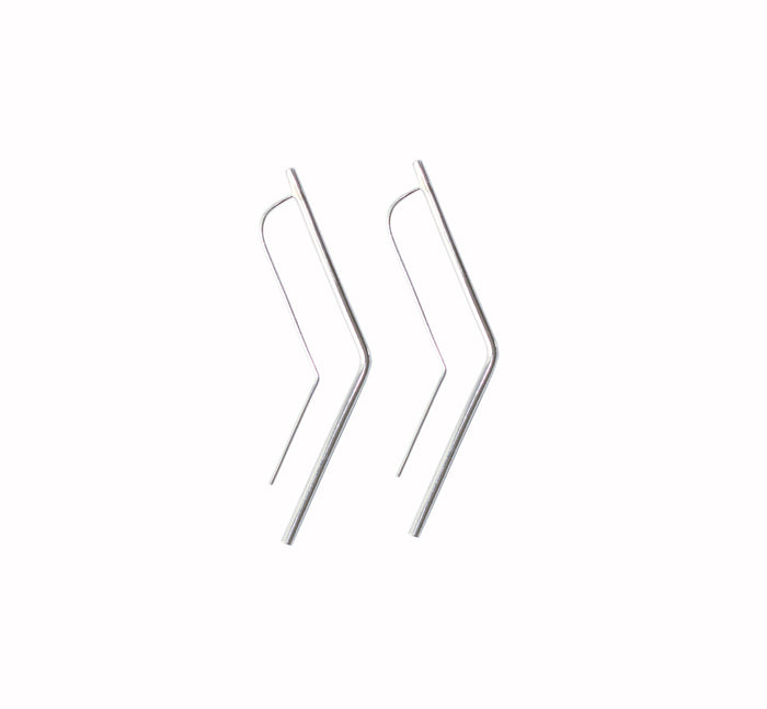 Vixen earrings by M of Copenhagen made with recycled silver