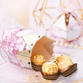 Pink Marble Box with Gold Foil & Bell
