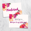 Alias Flora - Bridesmaid Card