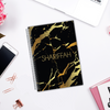 Gold Marble - Customizable Notebook (2 Colours Available)