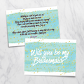 River of Gold - Bridesmaid Card