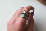 Emerald + Amethyst Ring