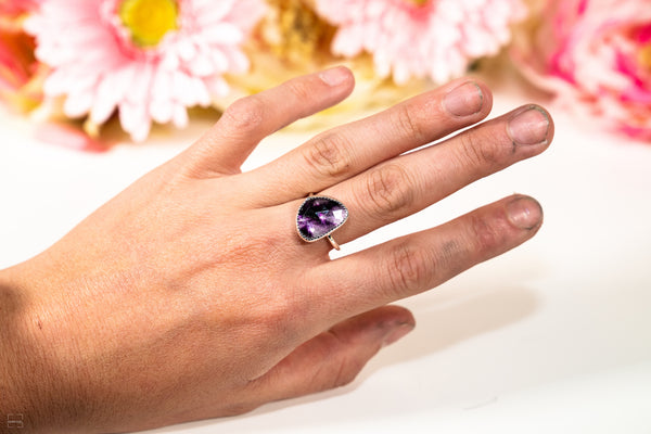 Connect and Expand - ATOMIC AMETHYST Ring