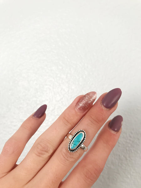 Turquoise ring - size 6