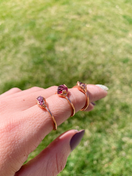 Copper + RAW garnet