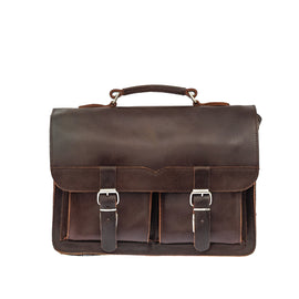 Brown Leather Satchel | Messenger Bag