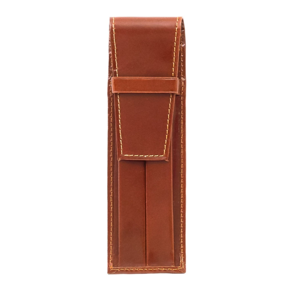 Brown Leather Double Pen Case