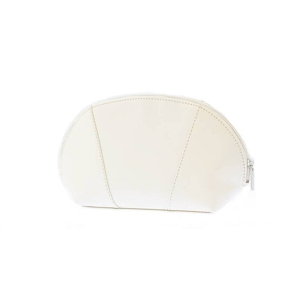 The Tamikka Off White Lacquered Leather Cosmetic Case