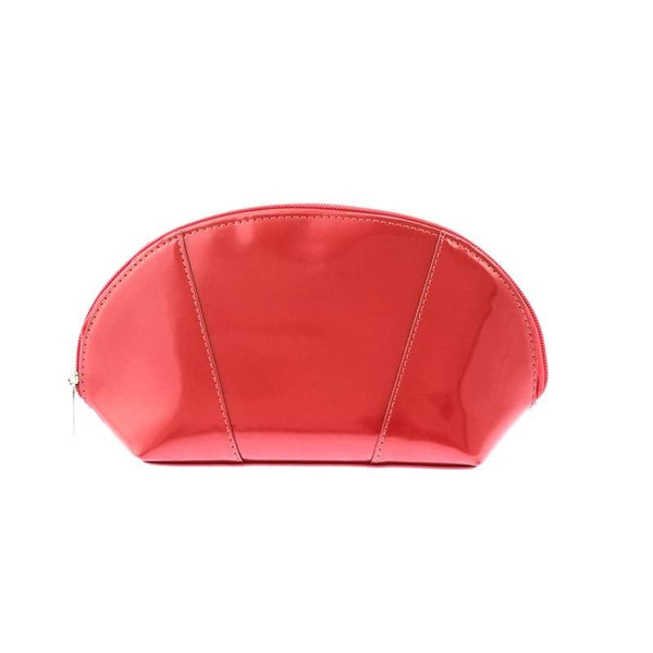 Genuine red leather make-up case