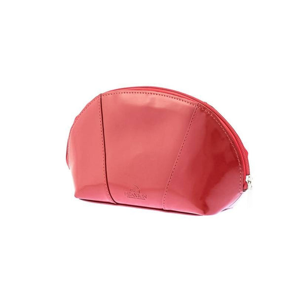 The Tamika Red Lacquered Leather Cosmetic Case