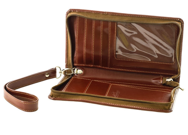 The Halvar - Light Brown Travel Organiser with Wirst Strap