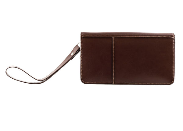The Halvar - Dark Brown Travel Organiser with Wirst Strap - Blaxton