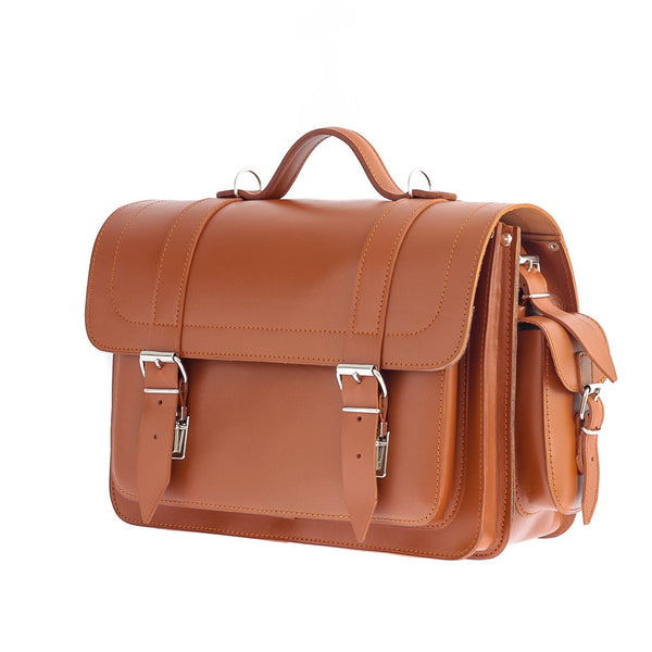 The Helland  - 14 Inch Leather Satchel Bag | Backpack