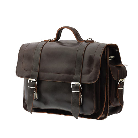 The Helland  - 14 Inch Leather Messenger Bag | Backpack