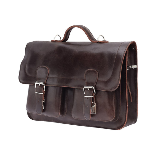 The Bossa  - 15 Inch Leather Messenger Bag | Backpack