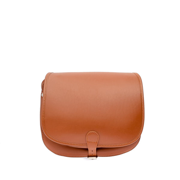 The Bea  - 11 Inch Tan Leather Saddle Bag | Hunters Bag - Blaxton