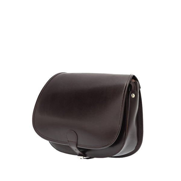 The Bea  - 11 Inch Dark Brown Leather Saddle Bag | Hunters Bag