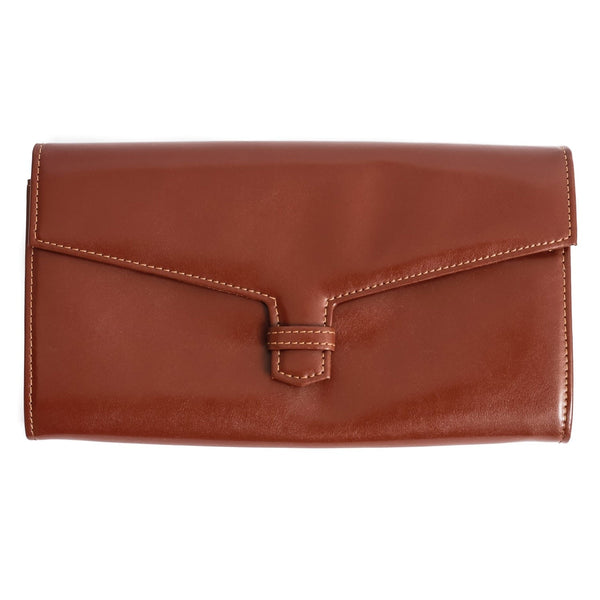 Leather Travel Wallet Brown