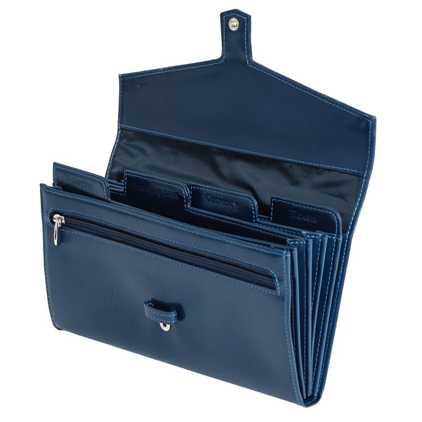 The Fay - Dark Blue Leather Travel Etui