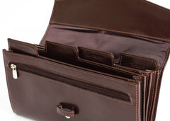 Genine Leather Travel Wallet Brown