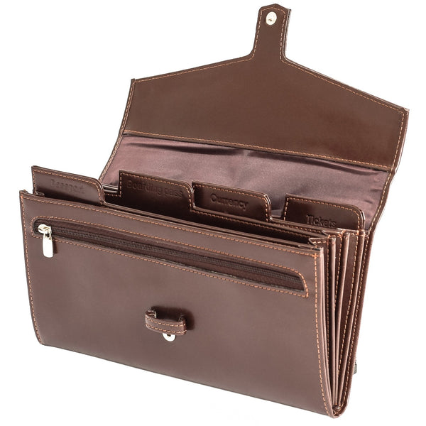 The Fay - Dark Brown Leather Travel Etui
