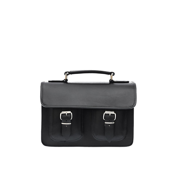 Black Leather Ladies Small Satchel from Blaxton