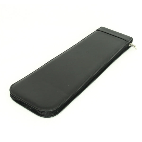 The Kavon - Black Leather Travel Tie Case