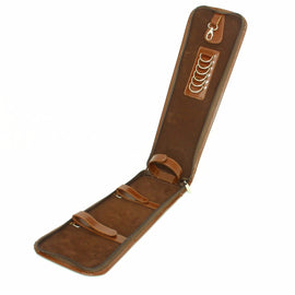 Cowhide Leather Brown Tie Holder