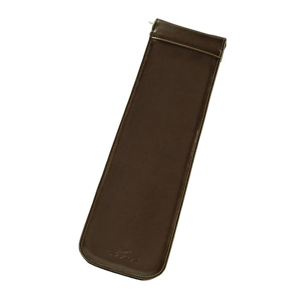 The Kavon - Dark Brown Leather Travel Tie Case