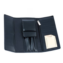 The Agi - Leather pen case and card holder
