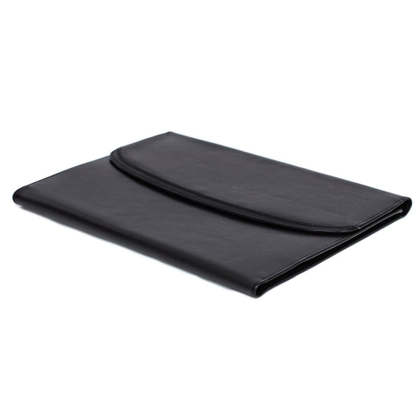 Black Leather Conference Clipboard Case