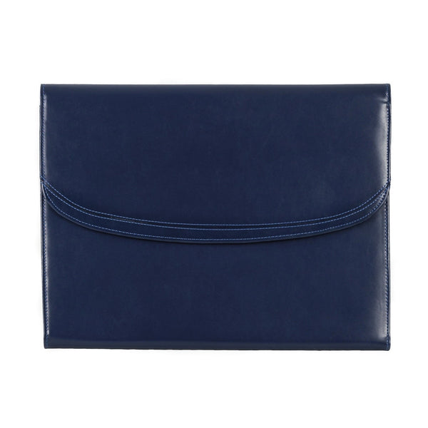 The Maddox - Dark Blue Leather Conference Folio