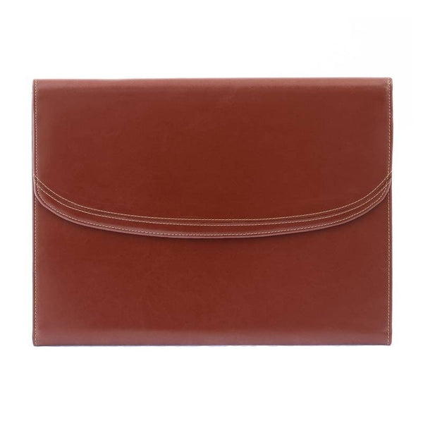 The Maddox - Cognac Leather Conference Folio