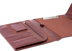 Cognac Brown Leather Conference Clipboard Case