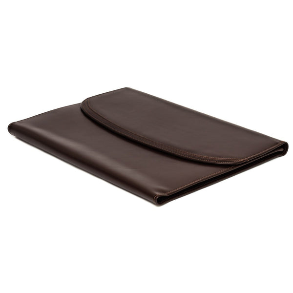 The Maddox - Dark Brown Leather Conference Folio - Blaxton