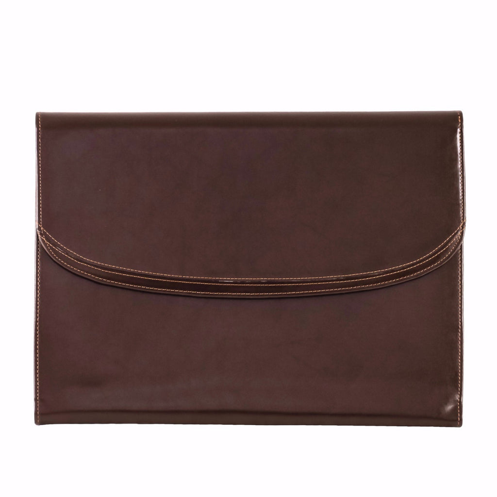 Dark Brown Leather Conference Clipboard Case
