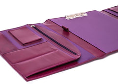 The Maddox - Purple Leather Conference Folio - Blaxton
