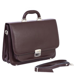The Nelle - 13 Inch Leather Small Briefcase - Blaxton