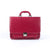 Dark Pink Leather Small Briefcase - Blaxton