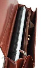 Genuine Leather Brown Ladies Briefcase
