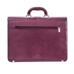 Cowhide Leather Purple Ladies Business Bag