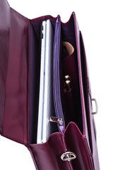 Genuine Leather Purple Ladies Business Bag