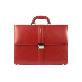 Genuine Red Leather Ladies Briefcase